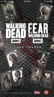 Topps Digital The Walking Dead Card Trader YOU PICK ANY 9 Unlocked Cards Lot