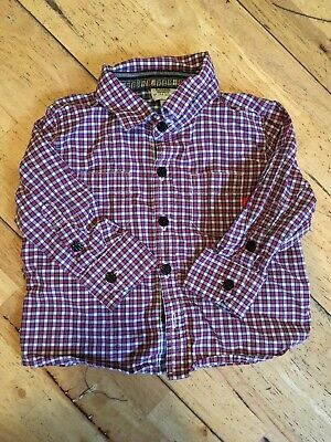 💙BABY BOYS TED BAKER Checked SHIRT AGED 3-6 MONTHS💙