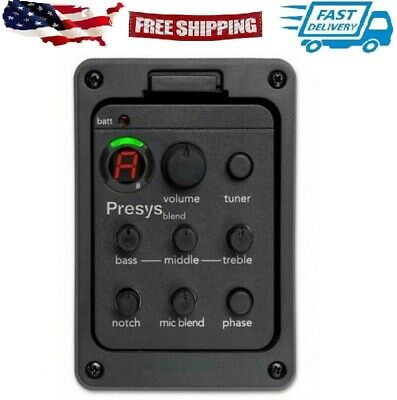 Folk Acoustic Guitar Pickup Presys Blend Dual Mode Equalizer With Mic Beat Board
