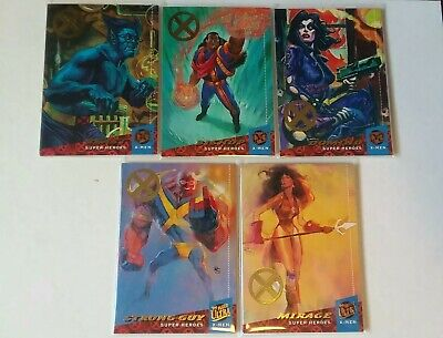 2018 Fleer Ultra X-Men 1994 Buyback Lot Beast Bishop Domino Mirage Strong Guy