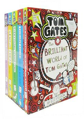 Tom Gates Series Collection 5 Books BY Liz Pichon The Brilliant World Of Tom