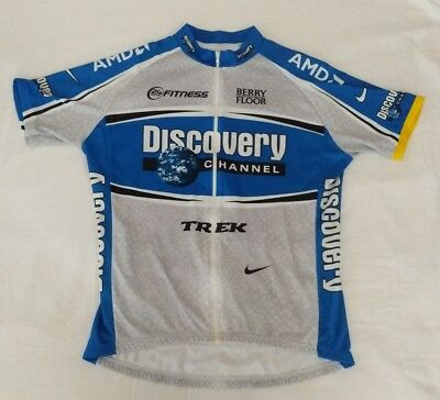 985da4300 NIKE MENS DISCOVERY Channel Pro Cycling Team Jersey Sz XL Italy ...