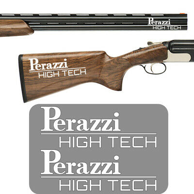 2x PERAZZI HIGH TECH Vinyl Decal Sticker. 3 sizes and 9 colours to choose from