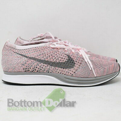 free shipping 1337a 39dfc Nike Men s Flyknit Racer Pearl Pink Cool Grey Running Shoes 526628-604 (9