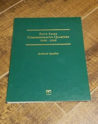 1999-2008 Fifty State Commemorative Quarter Album Complete 50 states 52 coins