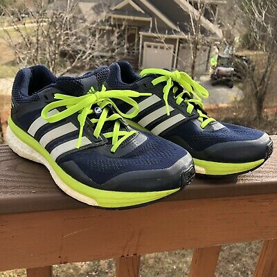 3d5415c05 Adidas Supernova Glide Boost 7 Mens Running Shoes Size 8.5 B33380 Navy Blue