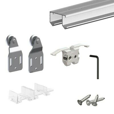 SLID'UP 110 - Sliding closet door hardware kit - 47-inch double track for 2 bypa