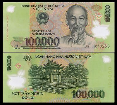 VIET NAM PAPER CURRENCY 3 x 100,000 (VND) BANKNOTE ONE HUNDRED THOUSAND DONG