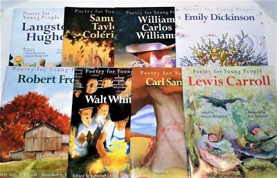 POETRY FOR YOUNG PEOPLE Lot <8> Books FROST Sandburg WHITMAN Teacher