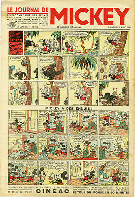 """LE JOURNAL DE MICKEY N° 96 (16/8/1936)"" Mickey a des ennuis"