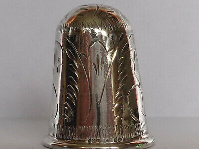 "Nice Large Vintage 925 Sterling Silver Thimble by Maker ""CME"""