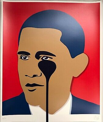 Pure Evil Obama Limited Edition Print Signed Ed Of 100