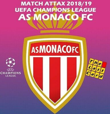 Match Attax Uefa Champions League 2018/19 As Monaco Fc Individual Cards