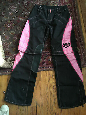 Size 7/8 Fox racing women's Switch pink and black pants NWOT riding motocross