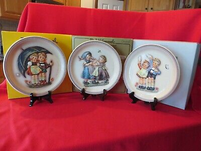 "HUMMEL 10"" ANNIVERSARY PLATES by GOEBEL - 1975, 1980 and 1985"