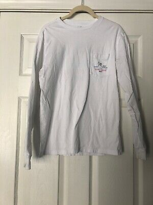 ec483356 Mens Vineyard Vines White HAPPY EASTER 2017 Long Sleeve Size Extra Small XS