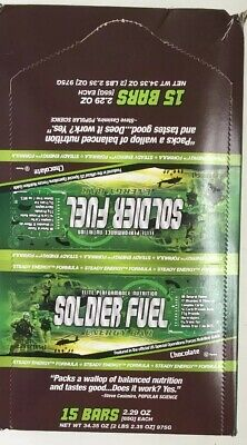 Soldier Fuel Energy Bars, Chocolate, 2.29 Ounce Each, Box Of 15