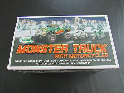 2007 Hess Monster Truck With Motorcycles New No Batteries Zz1902