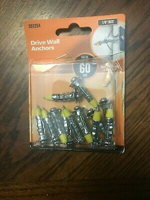 Hillman Group 1/8 DXS Drive Wall Anchor, 12 Each Pack New Damaged Package
