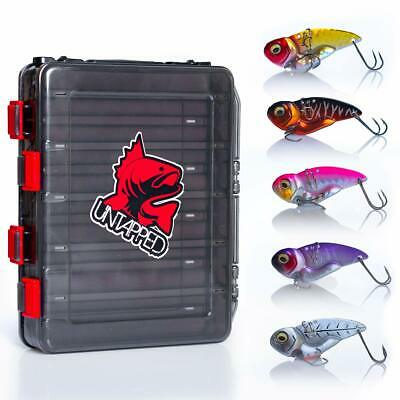 Double Sided 12 Compartment Fishing Lures Box Tackle Hooks Baits Plastic N6Z3