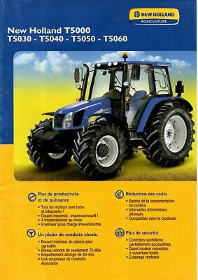 F-PROSPECTUS poster TRACTEUR NEW HOLLAND T5000