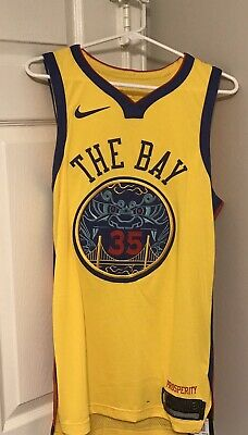 """372f3f9ff Men s Golden State Warriors """"The Bay"""" Kevin Durant Nike Authentic Jersey  Size M"""