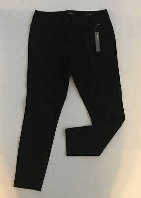 ANN TAYLOR LOFT Women's Black Skinny Pants Straight Thru the Hip Size 12