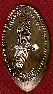 GRAND CANYON CONDOR ELONGATED PENNY - Pressed on Pre 82 Copper