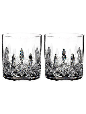 Waterford Lismore Connoisseur 2 X Straight Cut Lead Crystal Tumblers, 200ml,