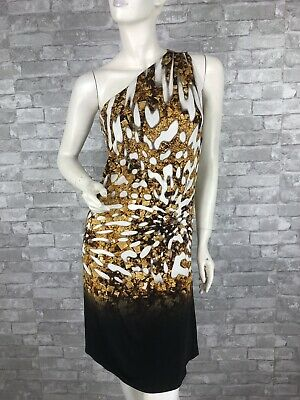 cd416a057cb Auth New ROBERTO CAVALLI Runway Cocktail Stretch Dress Top 4 US 40 IT S  ITALY