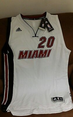 d00532648 Adidas justise winslow  20 miami heat nba jersey NWT size 2XL Lenght +2 men