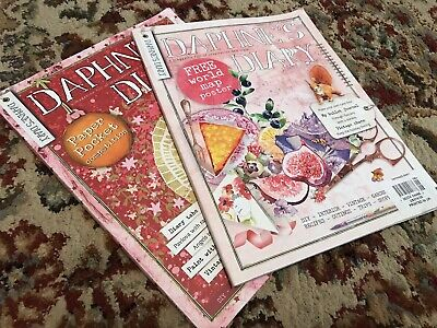 Two Daphne's Diary Magazines - Number 8 2016 & Number 6 2017