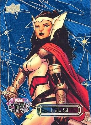 2016 Upper Deck Marvel Gems Sapphire Parallel 4 Lady Sif 09/25 MINT! VERY RARE!