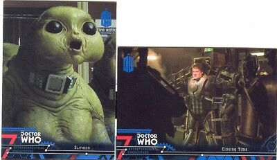 Doctor Who Extraterrestrial Encounters Blue Parallel 2 Matching Number Lot 98/99