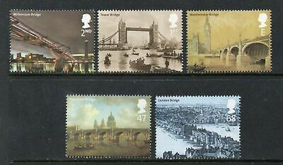 Gb  2002 Bridges Of London Set Of 5 Mnh Stamps