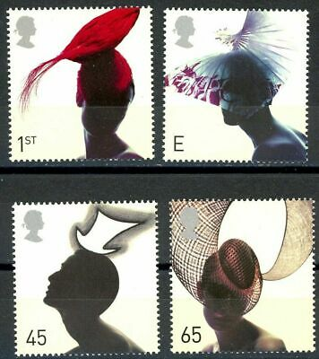 Gb 2001 Fabulous Hats Set Of 4 Mnh Stamps