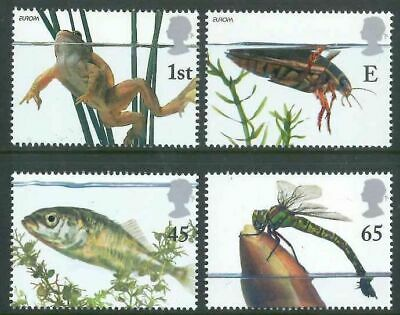 Gb 2001 Pond Life Set Of 4 Mnh Stamps