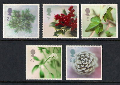 Gb 2002 Christmas Set Of 5 Mnh Stamps