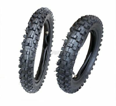 "Knobby 80/100-12"" Rear +2.75-14 Inch Front Tyre/tire & Tube Pit Dirt Trail Bike"