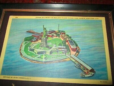 New York Post card Statue of Liberty