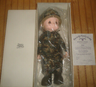 "PRECIOUS MOMENTS Lord's Army 'Purple Heart Of Courage' 16"" Vinyl Doll 1986"