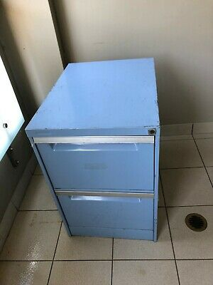 Filing Cabinet 2 Draw - Blue