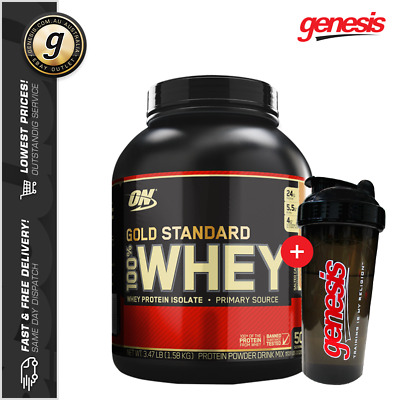 Optimum Nutrition 100% Gold Standard Whey - 3LB - WPI WPC Whey + INCLUDED ITEM!