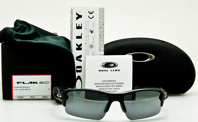 d1268230ab5 NEW OAKLEY FLAK 2.0 Matte Black Frame Black Iridium Lens OO9295-01 MADE IN  USA