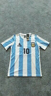 2306bfe4cb8 1986 World Cup ARGENTINA MARADONA Soccer Retro Football Shirt Jersey. Medium