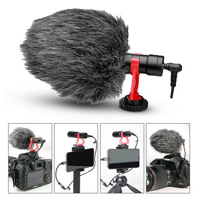 Shotgun Recording Camera Video Microphone for DSLR Camcorder Smartphone iPhone