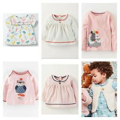 NEW IN Ex Baby Boden Pretty Collar & Applique Tops 0-4Years RRP £24