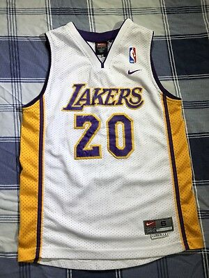 7dfd815f0 Vintage Nike NBA Los Angeles Lakers Gary Payton  20 Jersey Size Youth Small  Vtg