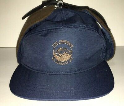 39a4b419532 COAL HEADWEAR THE Tracker Hat Blue Brown 5-Panel Deerstalker Cap NEW!
