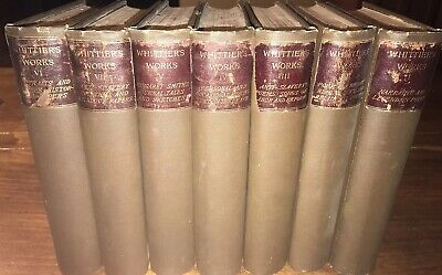 Whittier's Poetical Works, Illustrated, 1892 Library Complete Set Of 6